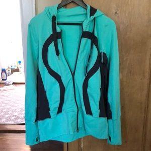 EUC LULULEMON size 12 hoodie mint green